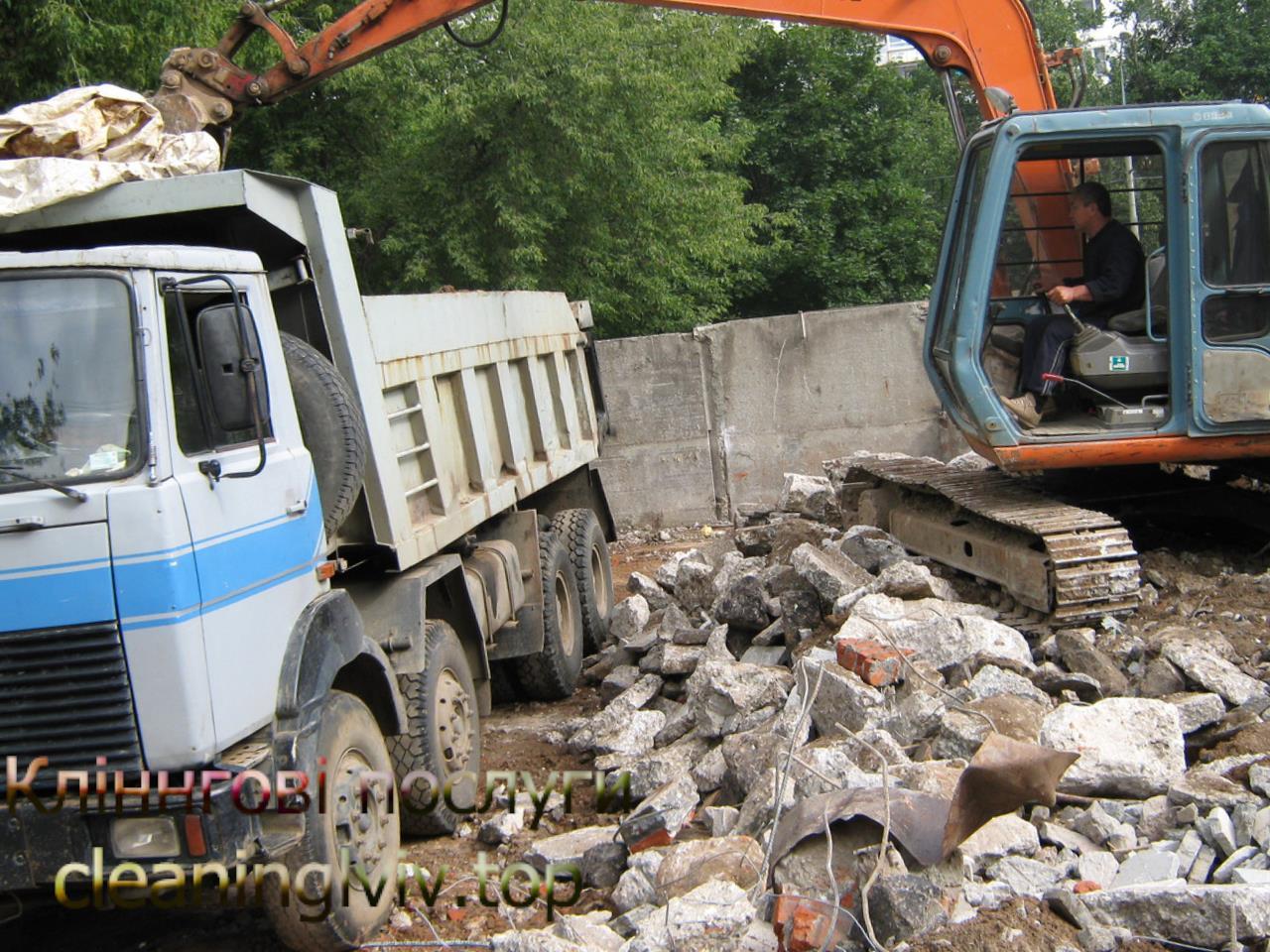 вивозу будівельного сміття